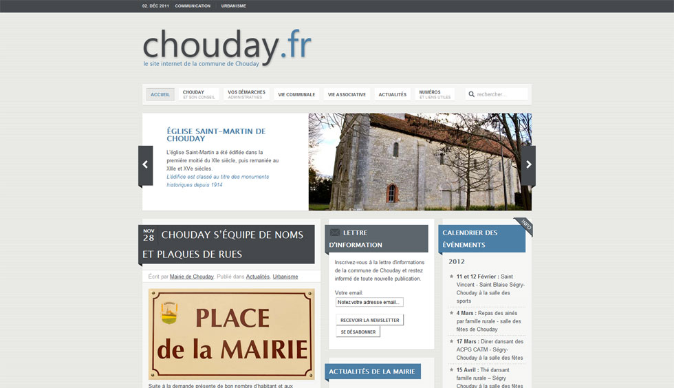 Lancement du site web de Chouday
