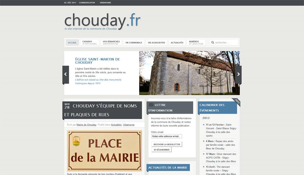 Lancement du site web de Chouday
