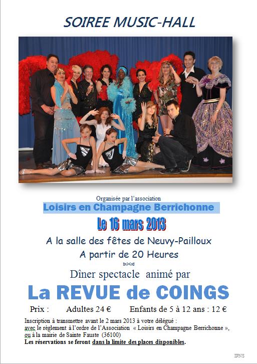 Soirée Music-hall à Neuvy-Pailloux