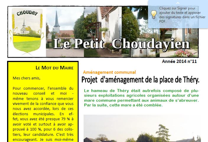 Le Petit Choudayien n°11
