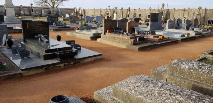 La première phase des travaux au cimetière est terminée