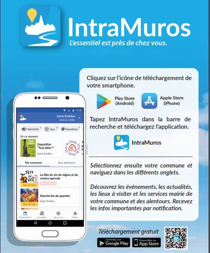 NOUVEAU: Application IntraMuros sur l'ensemble de la Communauté de Communes