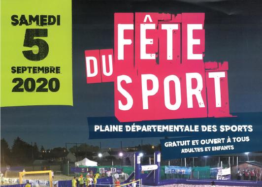Fête du Sport du 5 septembre 2020